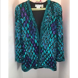 80's EMBELLISHED BEADED RETRO JACKET